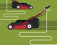 Electric mowing machine