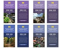 Banners for course promotion