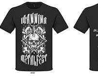Official merchandise T-shirt for Ioannina Metalfest 3