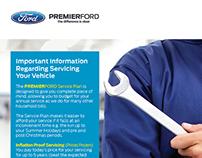 Ford Dealerships A4 Promotional Flyer
