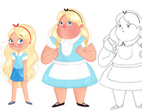 Alice in wonderland - Character Design
