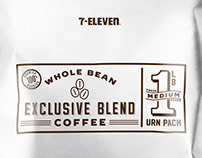 7 Eleven Whole Bean Coffee Packaging