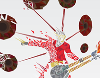 MAD MAX Flaming Guitar Guy Fractal Fan art