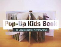 Pop-up Kids book - 'The Greatest Writer Never Known'