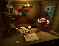 3D Lowpoly Pirate Cabine