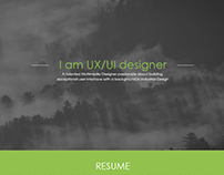 Responsive Web Resume (desktop/tablet/mobile)