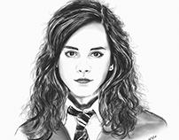 Miss. Hermione Granger, aka Emma Watson- Digital Sketch