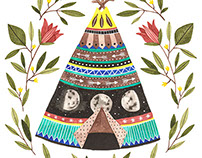 Teepee Illustration