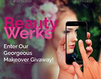 Beauty Werks Social Media Flyer Template