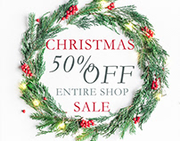 Christmas Sale 50 % off