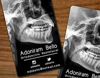 Tarjetas de Presentación Dr. Adoniram Bello