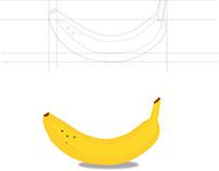 Ripen Banana Illustration
