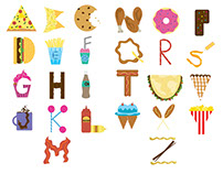 Junk Food Alphabet