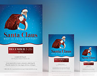 Santa Christmas Church Flyer Poster Template
