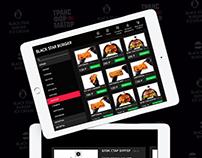 Design BLACK STAR BURGER app for iPad
