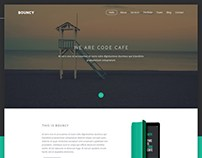 Free One Page Psd Website Psd Template
