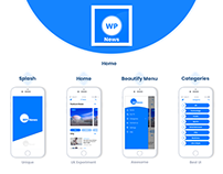 WordPress Native App UI UX Design