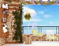 Terrace with coffee corner