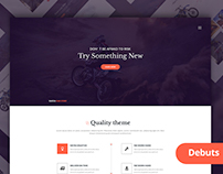 Themeunix: Bike Landing Page