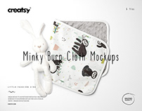 Minky Burp Cloth Mockup Set (06/LFv.2)