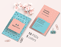 5 Business Card for Events Templates for Sale