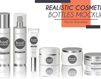 Vector realistic bottles set collection mockup pt.2