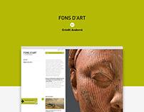 Fons d'Art de Crèdit Andorrà / Web Site
