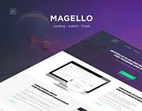 Magello - landing, admin panel, client site, branding