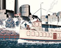 Mór Irish Gin Toronto Illustration