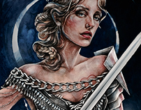 tarot. queen of swords
