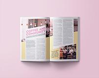 Magazine design | Various layouts