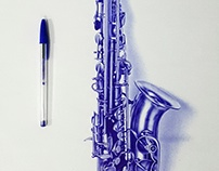Sexophone With Ballpoint Pen