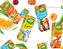 Meyve suyu ambalaj tasarımı. Fruit beverage package