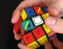 Rubik game Concept for visually challenged people