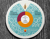 Infographic Coaster Design – Restaurant Brand Identity