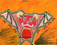 Skilif [Fractal Red Winged Bat]