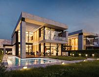 Modern cottage complex
