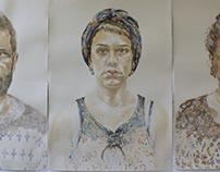 Watercolor portraits I