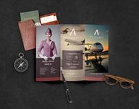 "Tri-fold brochure ""Jet Agency"""