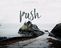 Push Brush Font