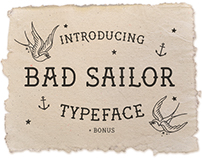 Bad Sailor - Hand Made Typeface