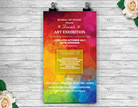 Invitation card for a art exhibition