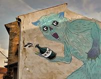 Blue fuzzmo - mural plan