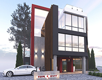 Office Teplosvit | design of the existing facade
