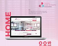 Diseño web, Persianas color y diseño