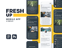 Fresh Up – News Mobile App UI Template