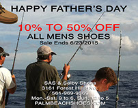 Email Blast for Shoe Store Father Day Sale, 2015