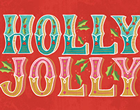 Holly Jolly holiday card