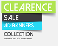 Collection of clean flat advertising web banners