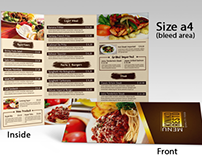 Tri-Fold Food Menu